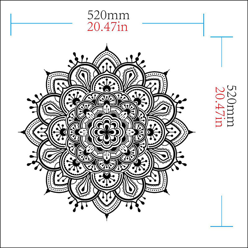 Buddhism India Mandala Wall Stickers For Living Room Namaste India Removable Creative Waterproof Wallpaper Mural Home Decoration in Wall Stickers from Home Garden
