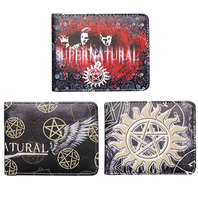 TV Supernatural SPN Printing Unisex Short Wallets Women Pu Leather Purse mens wallet women coin purses holders purse