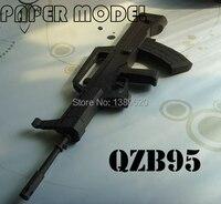 Free shipping Paper Model Gun weapon QZB95 Gun 1:1 Scale 3D puzzles paper toy Handmade Toys