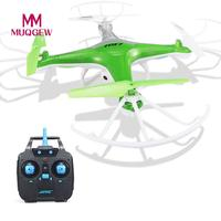 MUQGEW Brand Toys H97 2.4GHz 4CH 6-Axis RC Helicopters LED With 300 thousand HD Camera RC Quadcopter Super Durable Drone