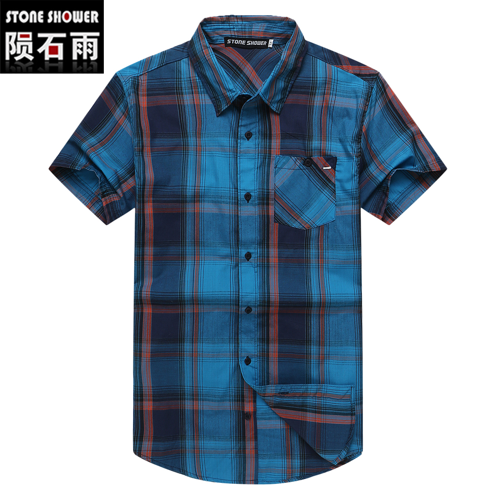 Online Get Cheap Short Sleeve Plaids Flannel Shirt -Aliexpress.com ...
