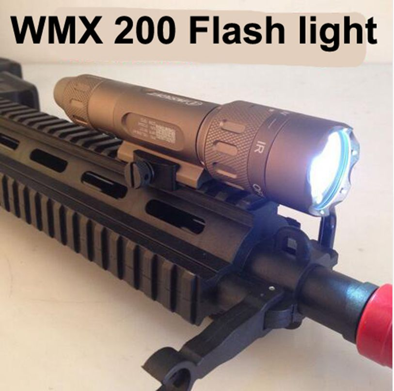 Tactical flashlight Night Evolution WMX200 Airsoft Light Rail Mount Q5 CREE LED Weapon Light for hunting night evolution wmx200 tactical gun light led flashlight strobe remote tail switch ir light for picatinny rail spotlight hunting