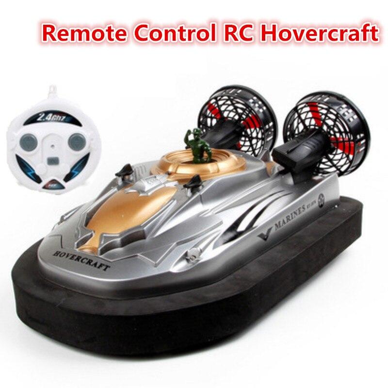 Enfant meilleur cadeau amphibie télécommande Hovercraft HT-2876 électrique rc bateau modèle enfants jouet bateau terre et rivière lecteur hovercraft