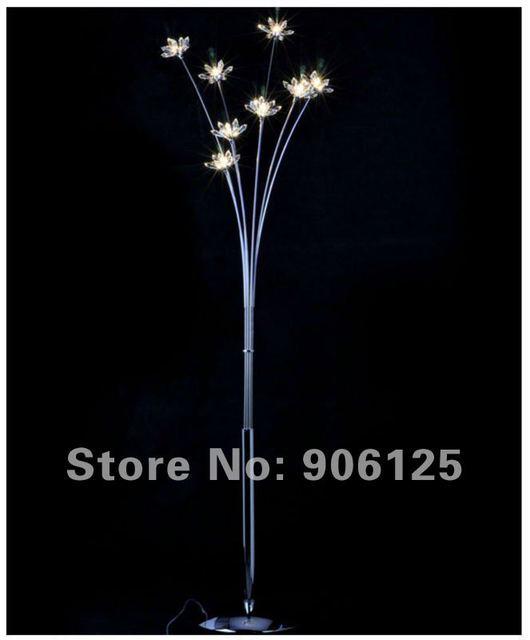 Modern Crystal Floor Lamp Chrome Flower Used In Living Room Guaranteed