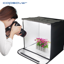 Capsaver Portabel Fotografi Studio Folding Lightbox Mjukbox LED Light Tent Tabletop Shooting Gul Svart Vit bakgrund