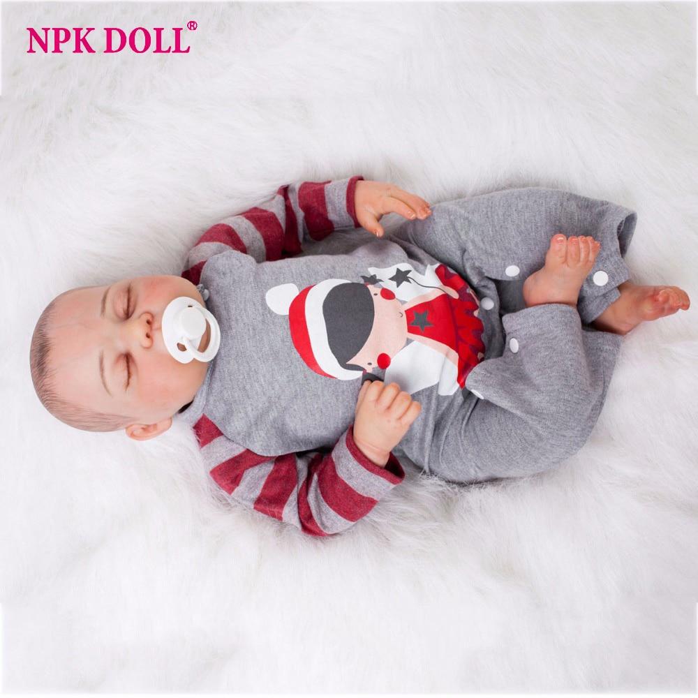 20 Inch Baby Born Doll Silicone Vinyl Boy Reborn Dolls Boneca Realistic Soft Alive Baby Doll Newborn Menina Children Toy juguete