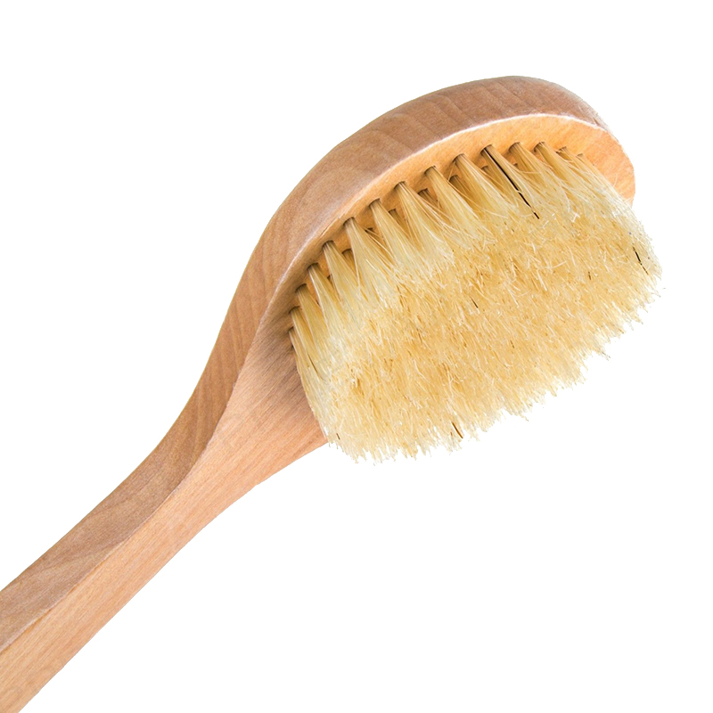 1PC Natural Wooden Long Handle Bath Back Body Clean Shower Skin Scrub Massage Clean Brush Tool High Quality