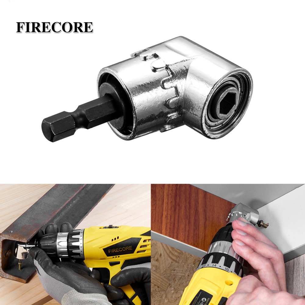 Durable Precision Power Tool Right Angle Drill Attachment Adapter 105 Degree Electric Drill Tool Hexagon Drill Bit Socket Holder Adaptor Sleeve