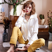 Women Pyjama Set Long Sleeved Autumn Home Furnishing Serve Suit Pure Cotton Pijamas Full Pant Printed Casual M 2XL Nightgt