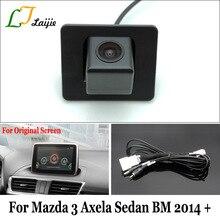 Laijie Telecamera di Backup Con Cavo Adattatore Per Mazda 3 Mazda3 Axela Berlina BM 2014 ~ 2017/OEM Monitor Vista Posteriore Compatibile fotocamera