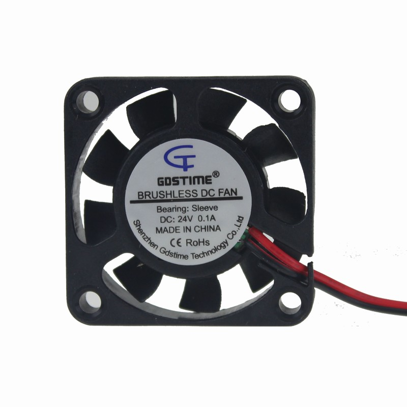 Gdstime 1 Piece 4cm 40mm x 10mm 2Pin DC Brushless Cooling Cooler Computer Fan 24V Small Mute Fan 40x40x10mm 4010 High Speed 2pcs 12v mini cooling computer fan small 40mm x 10mm dc brushless 2 pin 3000rpm 40 oil bearing 2018