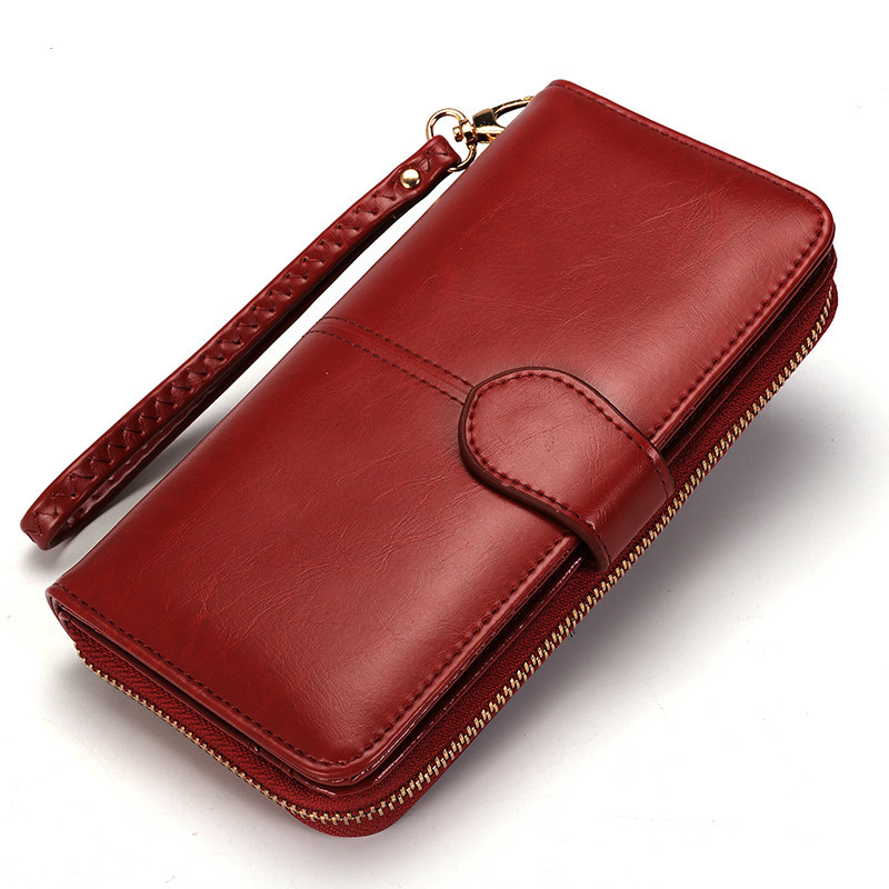 womens trifold wallet with coin purse