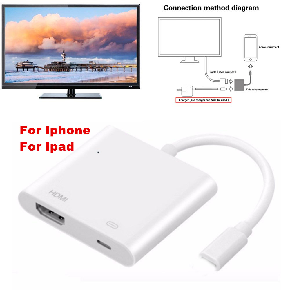 hdmi adapter converter digital av adapter 2 in 1 plug and play 1080p audio [ 1000 x 1000 Pixel ]