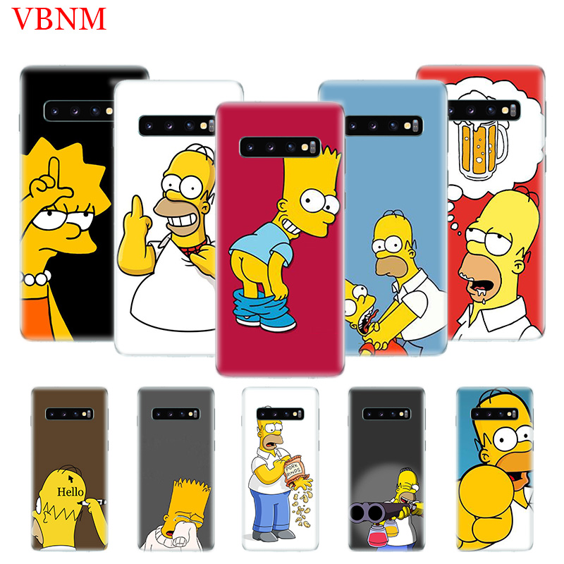 Funny Homer J. Simpson Patterned Case For Samsung Galaxy A6 A8 Plus A7 A9 J5 J8 J4 J6 2018 Art Gift Customized Cases Coque