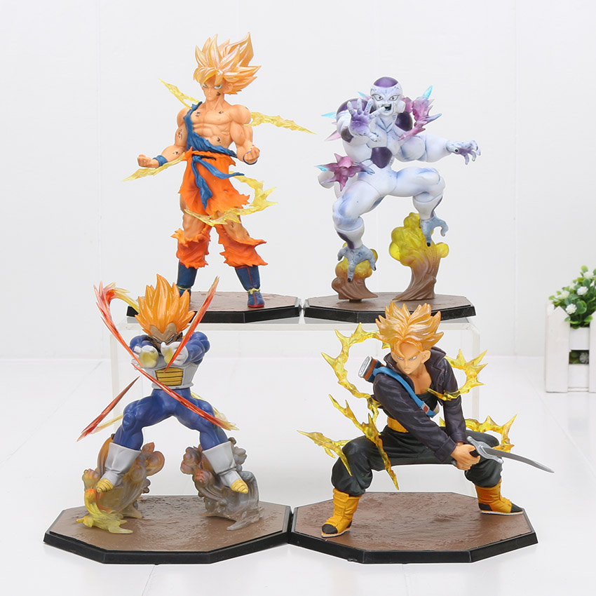 Dragon Ball Z Super Saiyan Majin Vegeta And Trunks Ssj Action Figure Toy Doll Brinquedos Figurals Collection Dbz Model Gift Toys & Hobbies