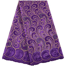 New Design African Dry 100% Cotton Net Lace Fabrics 2019 High Quality Embroidery Voile Cord Lace Swiss Voile Lace In Switzerland swiss voile lace 100