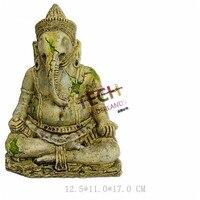 125 110 170mm Environmental Resin Aquarium Ornament Like The Buddha Vintage Style Elephant Buddha Seated Fish