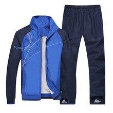 Men Running Sets Gym Sportwear Autumn Windproof Sporting Tracksuits Mens Set Training Jogging Jogger Suits Male Wholesale цена 2017