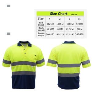 Image 3 - Mens High Visibility Shirt   2 Tone  short sleeve safety reflective work shirt  Summer  Work Wearfree shipping