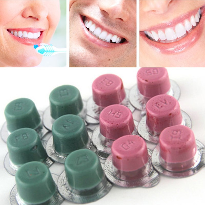 1pc Dental Teeth Whitening Burnisher Polisher Whitener Flavors White Smile Tooth Polishing Paste
