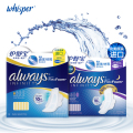 Whisper Always Infinity Ultra Thin Sanitary Napkin Health Care Dry Surface Pads With Wings Combination Day 10pads+ Night 10pads