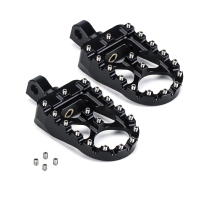 CNC Wide Fat 360° Roating Footpegs Foot Pegs MX Chopper Bobber Style for Sportster 883 Iron 883 Dyna