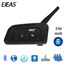 New EJEAS V6 Bluetooth Motorcycle Communicator Helmet Intercom Headset with Mic 1200m Interphone for 6 Riders