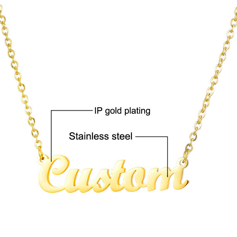Personalized Custom Name Pendant Necklace Customized Cursive Nameplate Necklace For Women Handmade Jewelry Gift