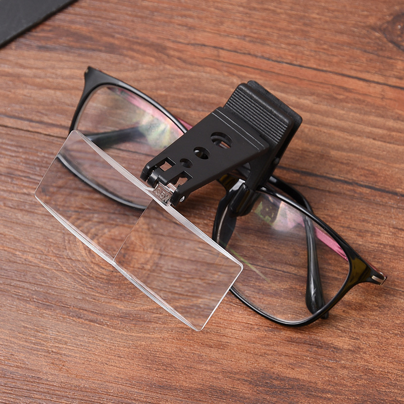 1,5x 2,5x 3,5x összecsukható szemüvegcsipesz flip-nagyítóval - Mérőműszerek - Fénykép 4