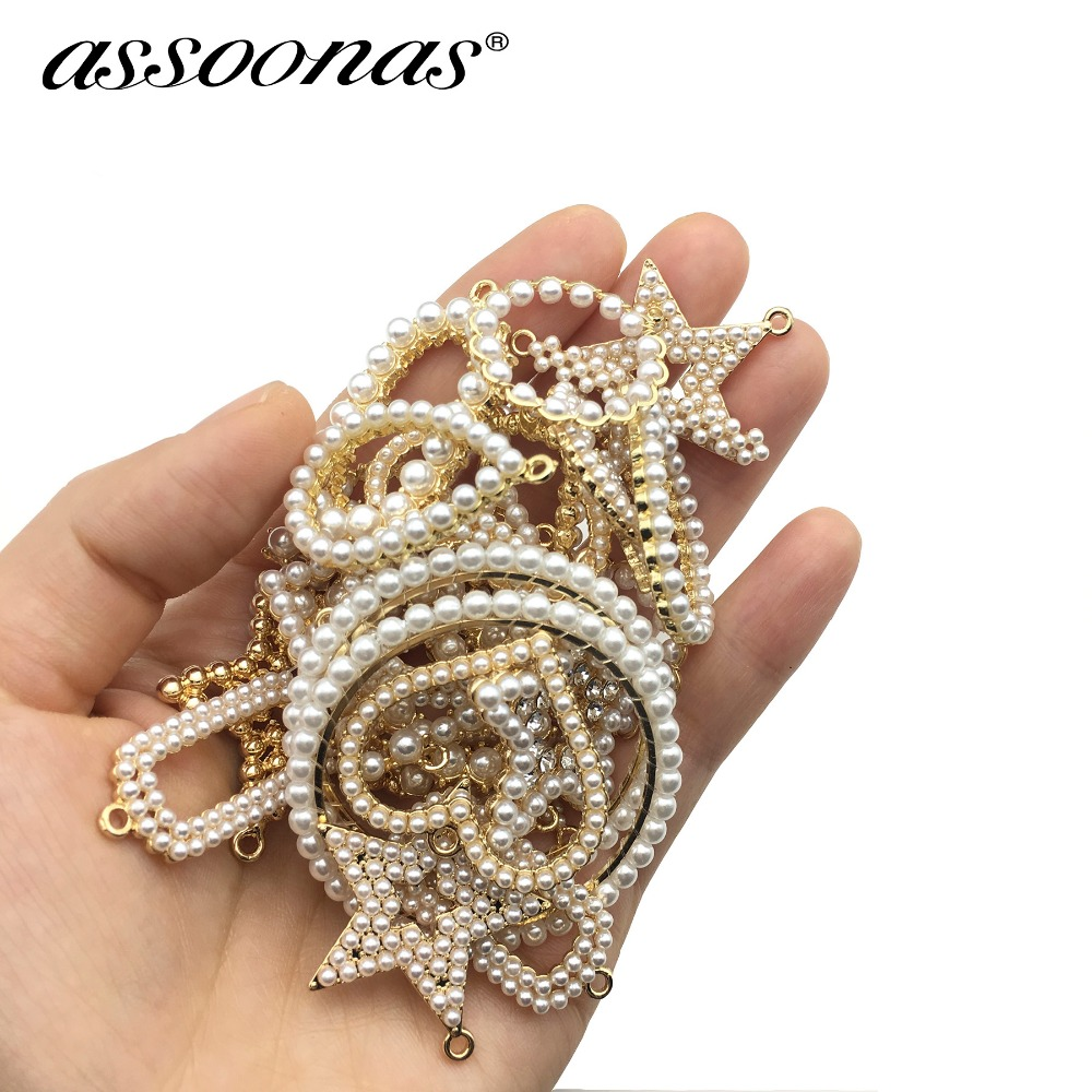 Assoonas M270,jewelry Accessories,Pearl Accessories,jewelry Making,metal Crafts Gift,charms,hand Made,diy Pendant,10pcs/lot