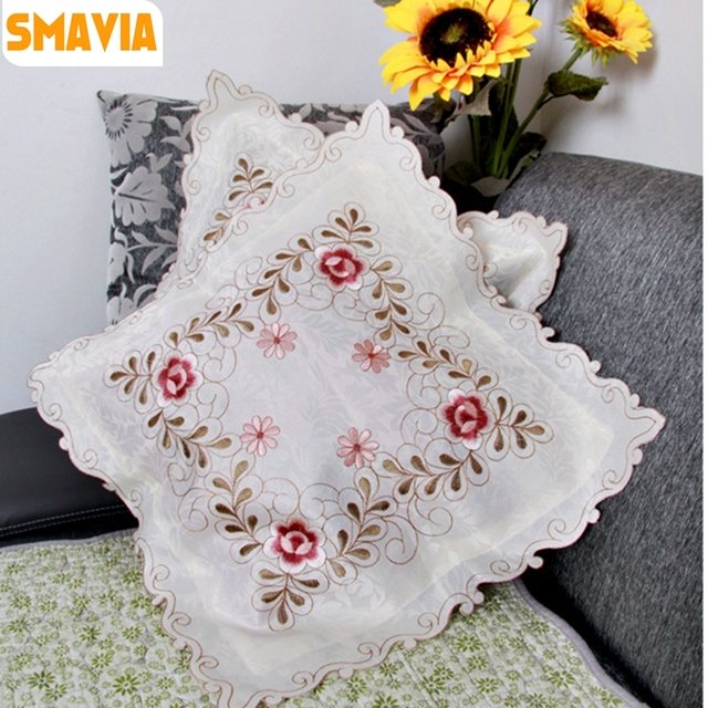 SMAVIA Handmade Hollow-out Embroidery Cushion Covers Flower Printed Pillowcase Chair/ Bed/ Sofa & Aliexpress.com : Buy SMAVIA Handmade Hollow out Embroidery Cushion ...