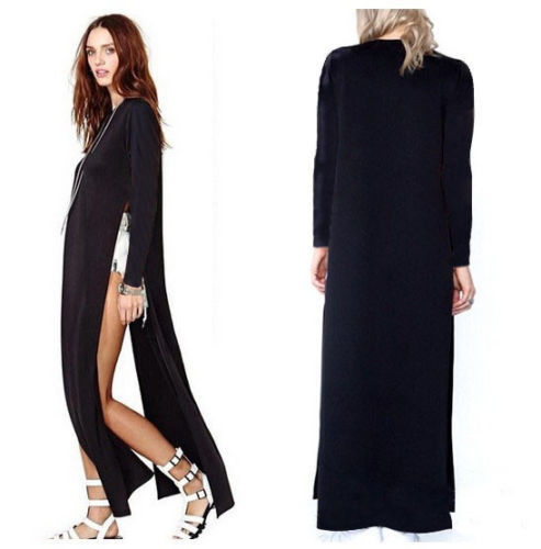 4131baf08fc Women Sexy Casual Side High Slits Tee Long Top Maxi Dress T shirt Tops  Blouse-in Dresses from Women s Clothing on Aliexpress.com