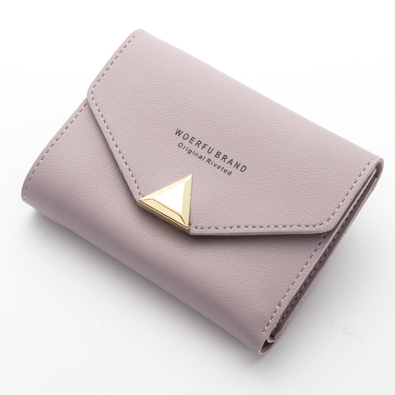 Women Wallet Short Leather Ladies Metal Designer Wallets for Women Mini Candy Color Clutch Brand Female Purse Coin Card Holder high quality 100% genuine leather women wallet ladies short wallets leather small wallet coin purse girl card holder clutch bag