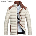 Free shipping   Winter 2017  new Men's Cotton Down Jacket  New Brand padded coat Short Coat with stand Collar 88yw