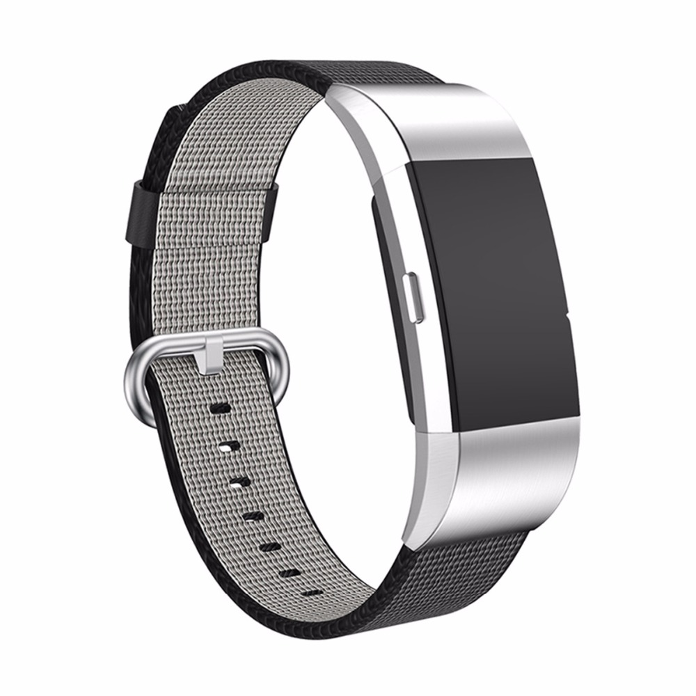LNOP Sport Woven Nylon Wrist Strap For Fitbit Charge 2 band Flexible Breathable Replacement Band with Metal Clasps
