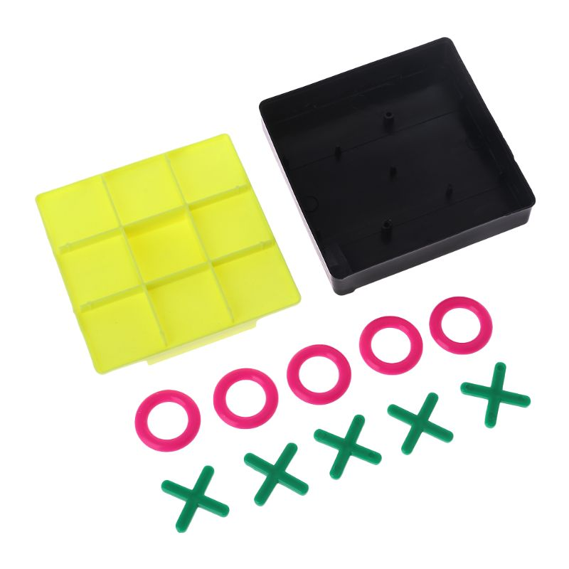 O X Tic Tac Toe Chess Piece Board Game Set Kids Brain Teaser Baby Early Educational Intelligence Development Exercising Tool