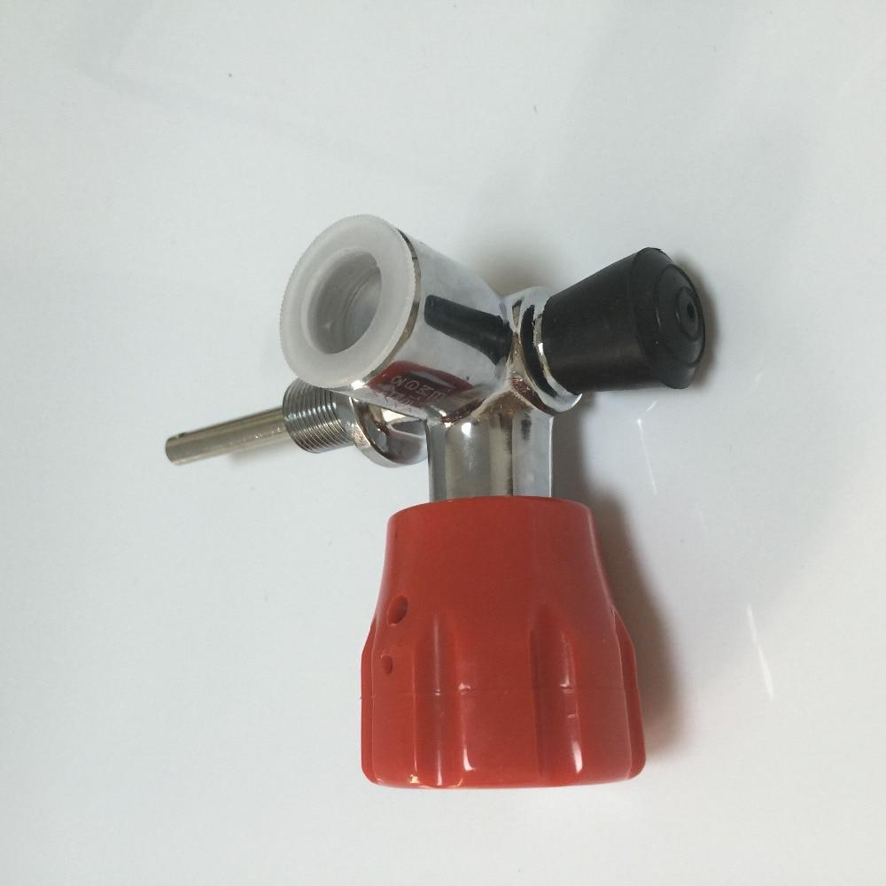 Cylinder Parts SCBA Diving Tank Valve/PCP Tank Bottle Valve/Composite Carbon Fiber Red Valve Gauge/Filling Station-K