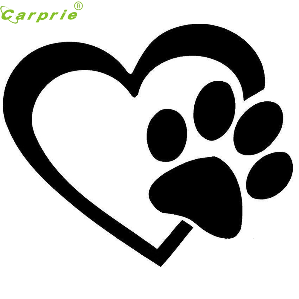 Online Get Cheap Heart With Dog Paw Decal Window Sticker