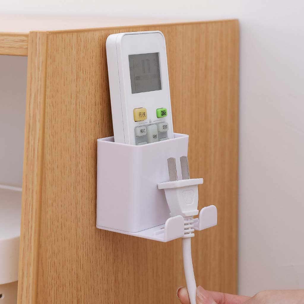 壁掛けリモコン携帯電話ブラケット収納ボックス穴なしスイッチオーガナイザー自宅保管スペースセーバー # O