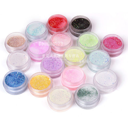 18  Beauty Colors Nail Gel Nail Art Acrylic Powder Bulider Cave Acrylic Nail Sculpture For UV Gel Tips WholeSale