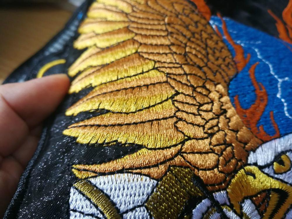 2019 New Extra Large Patches Motorcycle Model Eagle Embroidery Badge Patches for Clothing Handmade Riding Clothing Patches in Patches from Home Garden