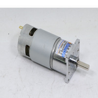 DC geared motor, 12V/24V high power and large torque 775 motor, CW/CCW speed motor