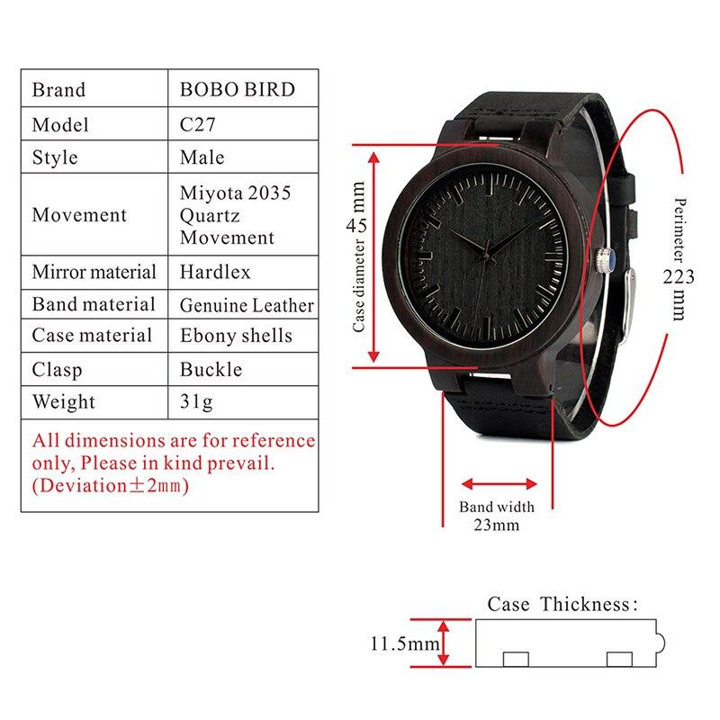 wooden wristwatches for men and women bobo bird  (10)