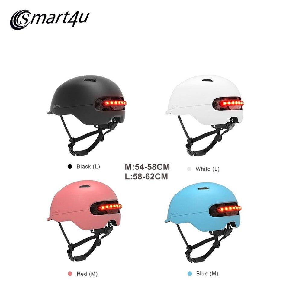 Xiaomi Smart4u SH50 Motorcycle Helmet Waterproof Smart Flash Bike Helmet Backlight Mountain Cycling Bicycle Helmet For Men Women
