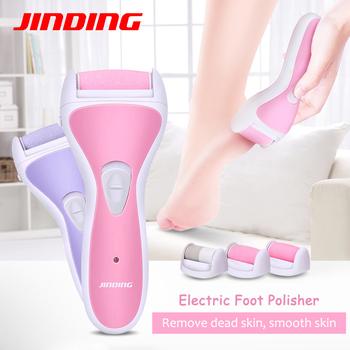 Elektryczny akumulator Pedicure narzędzie do pielęgnacji stóp szybki kalus Mini kobieta stopy martwy sucha skóra usuwanie 3 w 1 D45 tanie i dobre opinie JINDING 16*6CM JD-8001 Globalny Uniwersalny (100-240 V) 50 Min