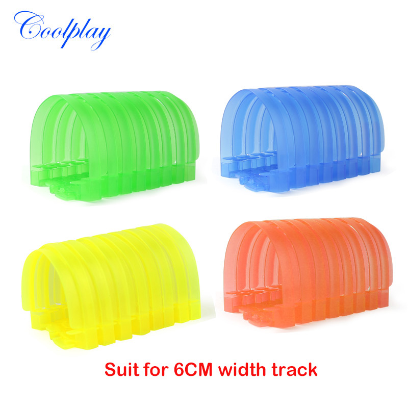 8/32pcs Spare Tunnel For Magic Racing Tracks That Bend Flex Rail Car Accessories Suit For 6 CM Width Track }