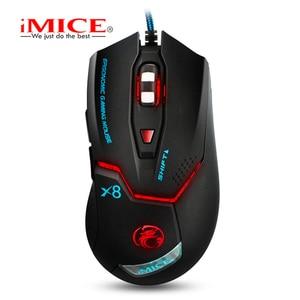 Image 2 - IMICE Professionale Wired Gaming mouse 3200dpi USB Mouse Ottico 6 Bottoni Mouse Del Computer Gamer mouse Per PC Del Computer Portatile X8
