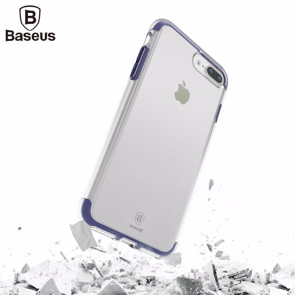Baseus case para iphone 7/7 plus i7 cubierta case transparente doble anti-caída