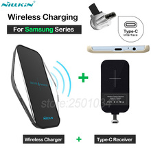 Nillkin Qi Wireless Charging for Samsung Galaxy A3 A5 A7 2017 A8 A8+ 2018 C5 Pro C7 Pro Wireless Charger + Type-C Receiver