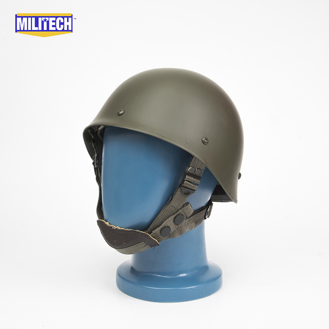 Militech Oliver Drab OD Green French F1 Model 1978 Version Steel Paratrooper High Quality Repro Collection Helmet